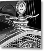 1931 Model A Ford Deluxe Roadster Hood Ornament 2 Metal Print