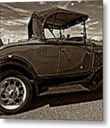 1931 Model T Ford Monochrome Metal Print by Steve Harrington