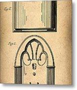 1931 Philco Radio Patent Metal Print