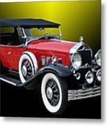 1931 Willys Knight Plaid Side Metal Print