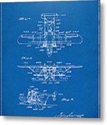 1932 Amphibian Aircraft Patent Blueprint Metal Print