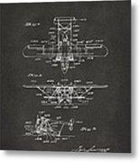 1932 Amphibian Aircraft Patent Gray Metal Print