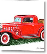 1932 Cadillac Rumbleseat Coupe Metal Print