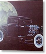 1932 Ford Coupe-harvest Moon Coupe Metal Print