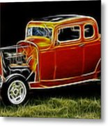 1932 Ford Fenderless Coupe Metal Print