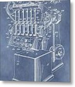 1932 Machine Patent Metal Print