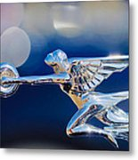 1932 Packard 12 Convertible Victoria Hood Ornament -0251c Metal Print
