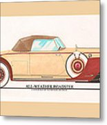 1932 Packard All Weather Roadster By Dietrich Concept Metal Print