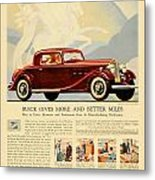 1933 - Buick Coupe Advertisement - Color Metal Print