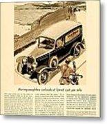 1933 - Chevrolet Commercial Automobile Advertisement - Old Gold Cigarettes - Color Metal Print