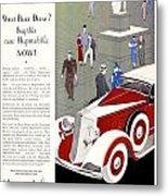1933 - Hupmobile Sedan Automobile Advertisement - Color Metal Print