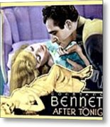 1933 - After Tonight Motion Picture Poster - Constance Bennet - Gilbert Roland - Color Metal Print