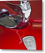 1933 Plymouth Hood Ornament Metal Print by Jill Reger