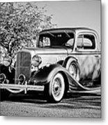 1933 Pontiac -0011bw Metal Print