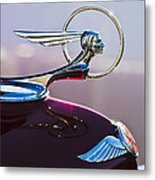 1933 Pontiac Hood Ornament Metal Print by Jill Reger