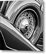 1933 Pontiac Spare Tire -0431bw Metal Print