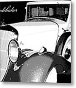 1933 Studebaker Digital Art Metal Print