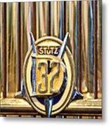 1933 Stutz Dv-32 Five Passenger Sedan Emblem Metal Print