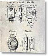1933 Watch Case Patent Drawing  Metal Print