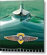 1934 Dodge Hood Ornament Emblem Metal Print by Jill Reger
