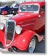 1934 Ford Greyhound Two Door Sedan Metal Print