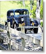 1934 Oldsmobile Touring Coupe 2 Metal Print