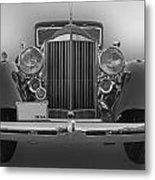 1934 Packard Black And White Metal Print