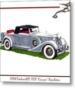 1934 Packard Twelve 1107 Coupe Metal Print