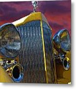 1934 Packard With Posterized Edge Texture Metal Print
