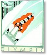 1935 - Lake Placid - New York - Travel Poster - Color Metal Print