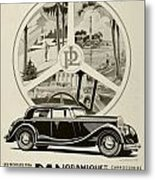 1935 - Panhard Panoramique French Automobile Advertisement Metal Print