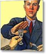 1935 - Soviet Union Anti Alcohol Propaganda Poster - Color Metal Print