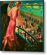 1935 Atlantic City Vintage Travel Art Metal Print