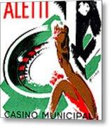 1935 Hotel Aletti Casino Algeria Metal Print