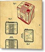 1935 Kodak Camera Casing Patent Metal Print
