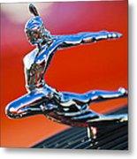 1935 Pontiac Sedan Hood Ornament 2 Metal Print