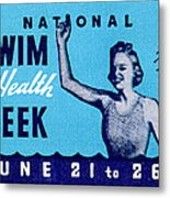 1935 Swim For Health Poster Metal Print