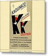 1936 - Kaolinase Drug Advertisement - Color Metal Print