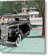 Bentley Waving To Malibu Metal Print