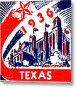 1936 Dallas Texas Centennial Poster Metal Print