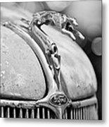 1936 Ford Cabriolet Hood Ornament - Emblem Metal Print