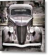 1936 Ford Roadster Classic Car Or Automobile Painting In Color  3120.02 Metal Print