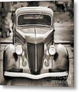 1936 Ford Roadster Classic Car Or Automobile Painting In Sepia  3120.01 Metal Print