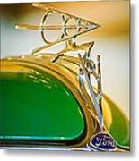 1936 Ford Deluxe Roadster Hood Ornament Metal Print by Jill Reger
