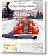 1936 - Lasalle Convertible Automobile Advertisement - Color Metal Print