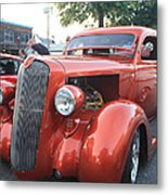 1936 Plymouth Two Door Sedan Front And Side View Metal Print