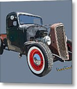 1936 Rat Rod Chevy Pickup Metal Print