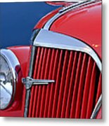 1937 Chevrolet Hood Ornament Metal Print by Jill Reger