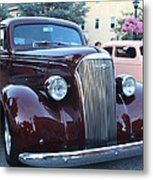 1937 Chevy Two Door Sedan Front And Side View Metal Print