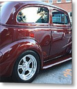 1937 Chevy Two Door Sedan Rear And Side View Metal Print
